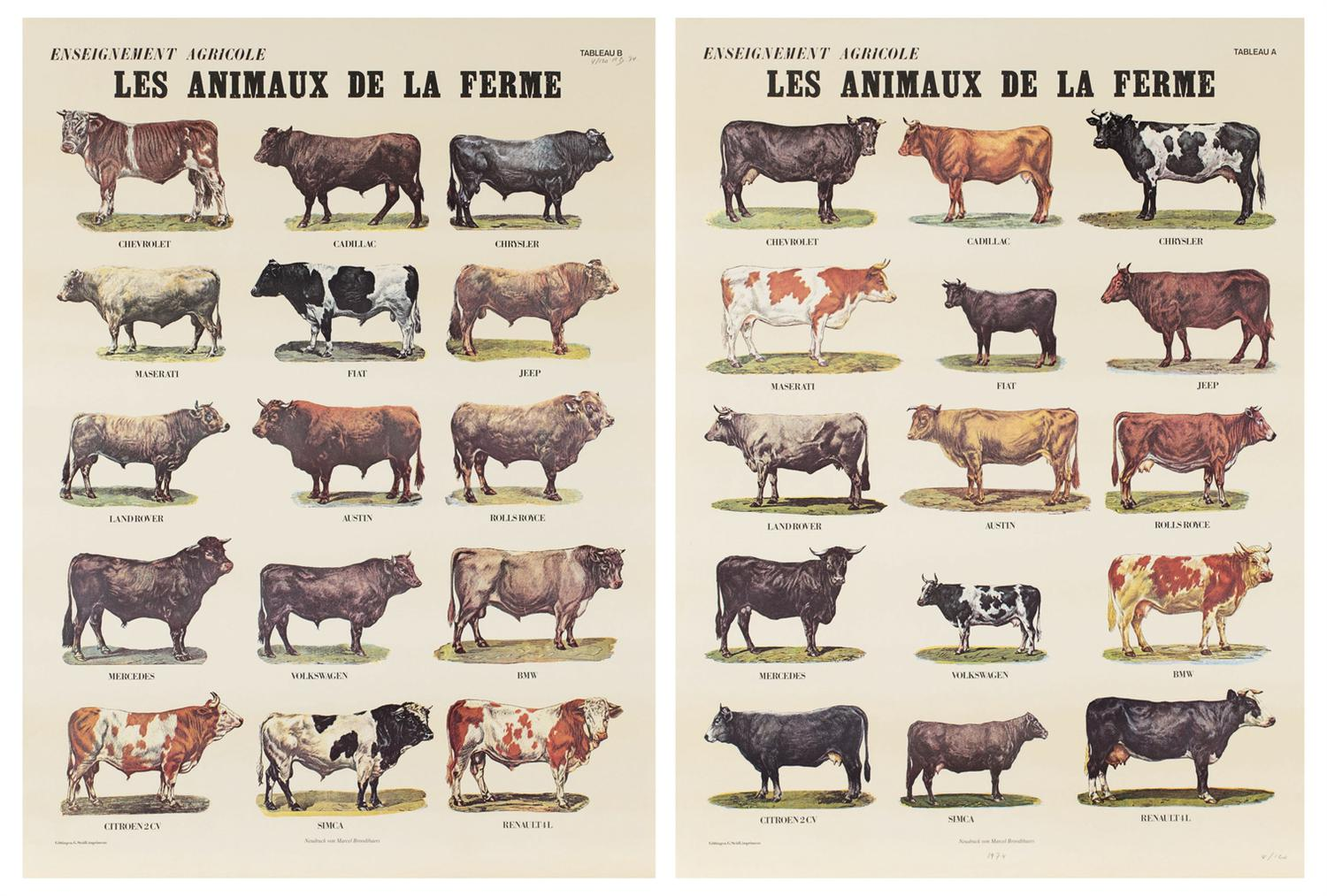 Marcel Broodthaers-Les Animaux De La Ferme (The Farm Animals)-1974