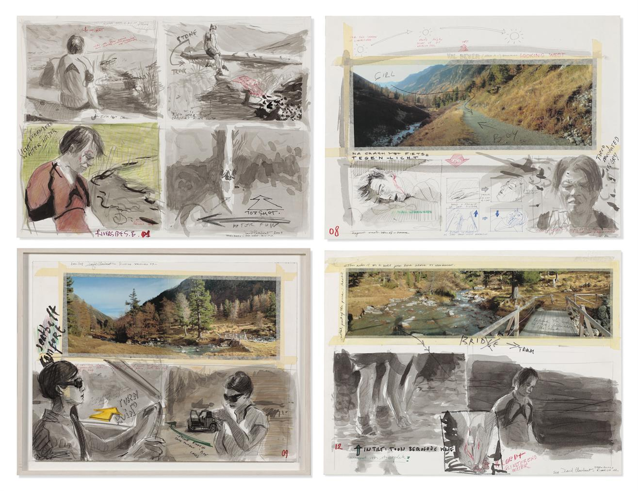 David Claerbout-Riverside Storyboard (01, 08, 09 And 12)-2009