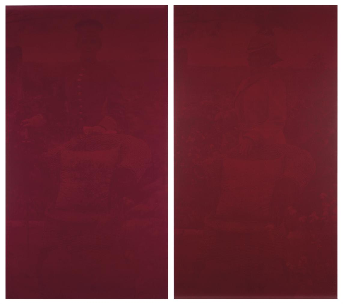 Rosangela Renno-Untitled (Young Prussian), Untitled (Old Prussian) (From The Red Series (Militantes))-2000