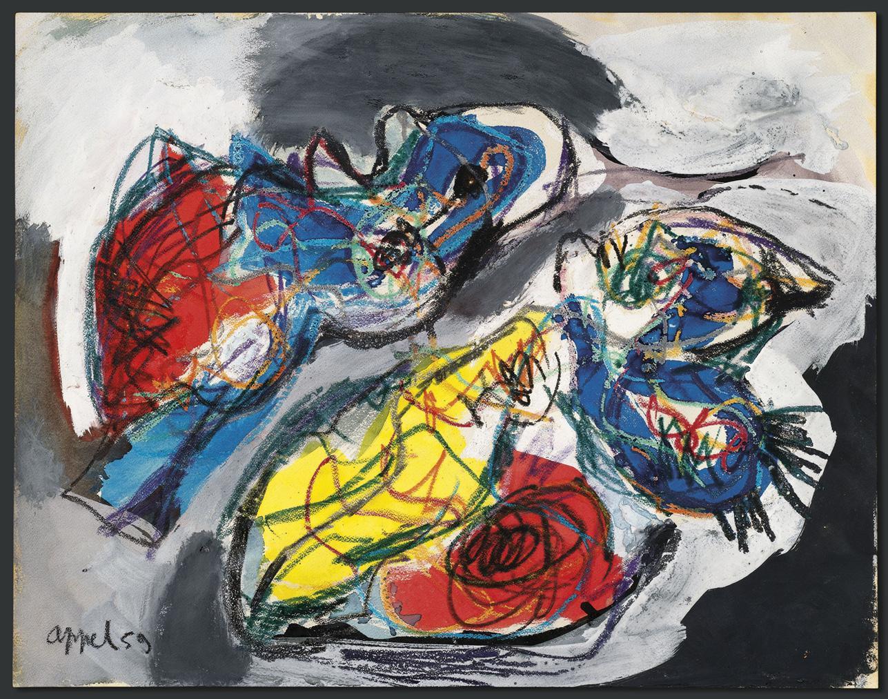 Karel Appel-Les Animaux Amoureux (Animals In Love)-1959