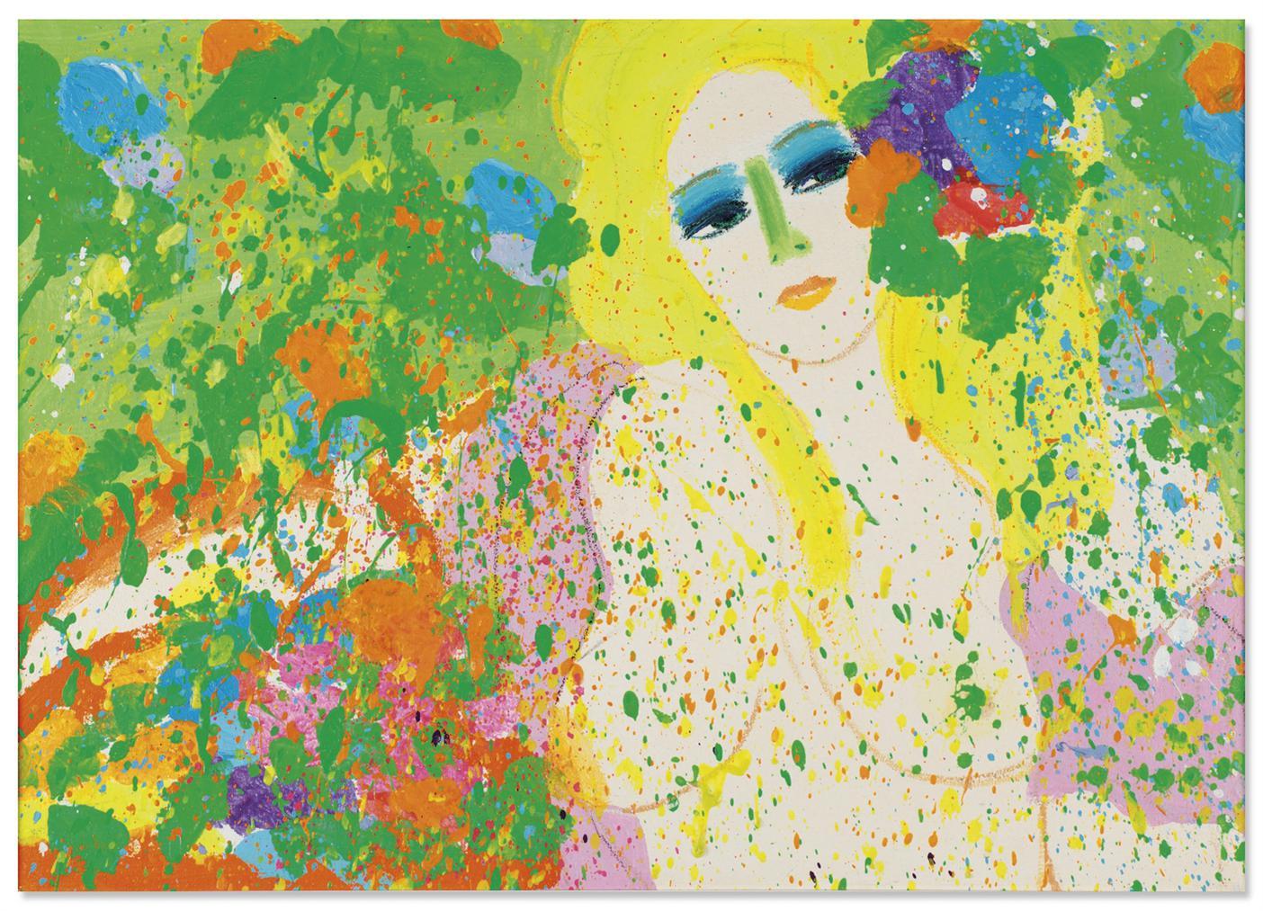Walasse Ting-I Bring You A Spring-1971