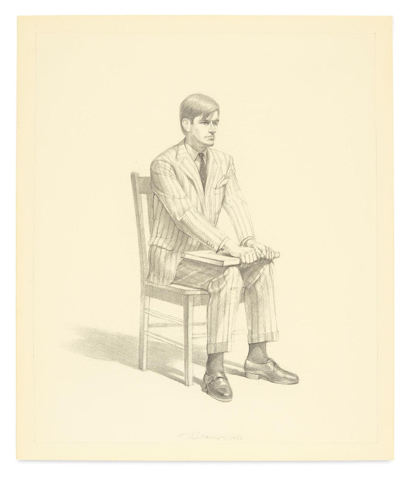 Wayne Thiebaud-Portrait Of Bill Ittman-1966