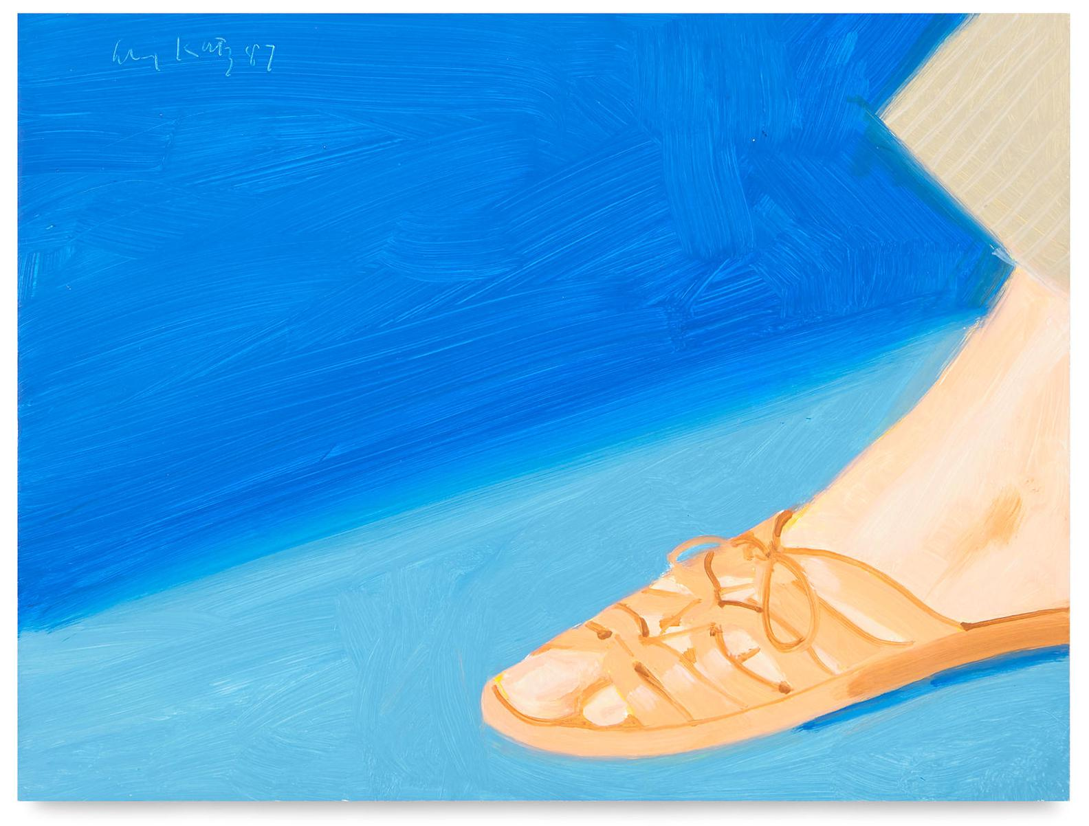 Alex Katz-Untitled (Study For Adas Sandals)-1987
