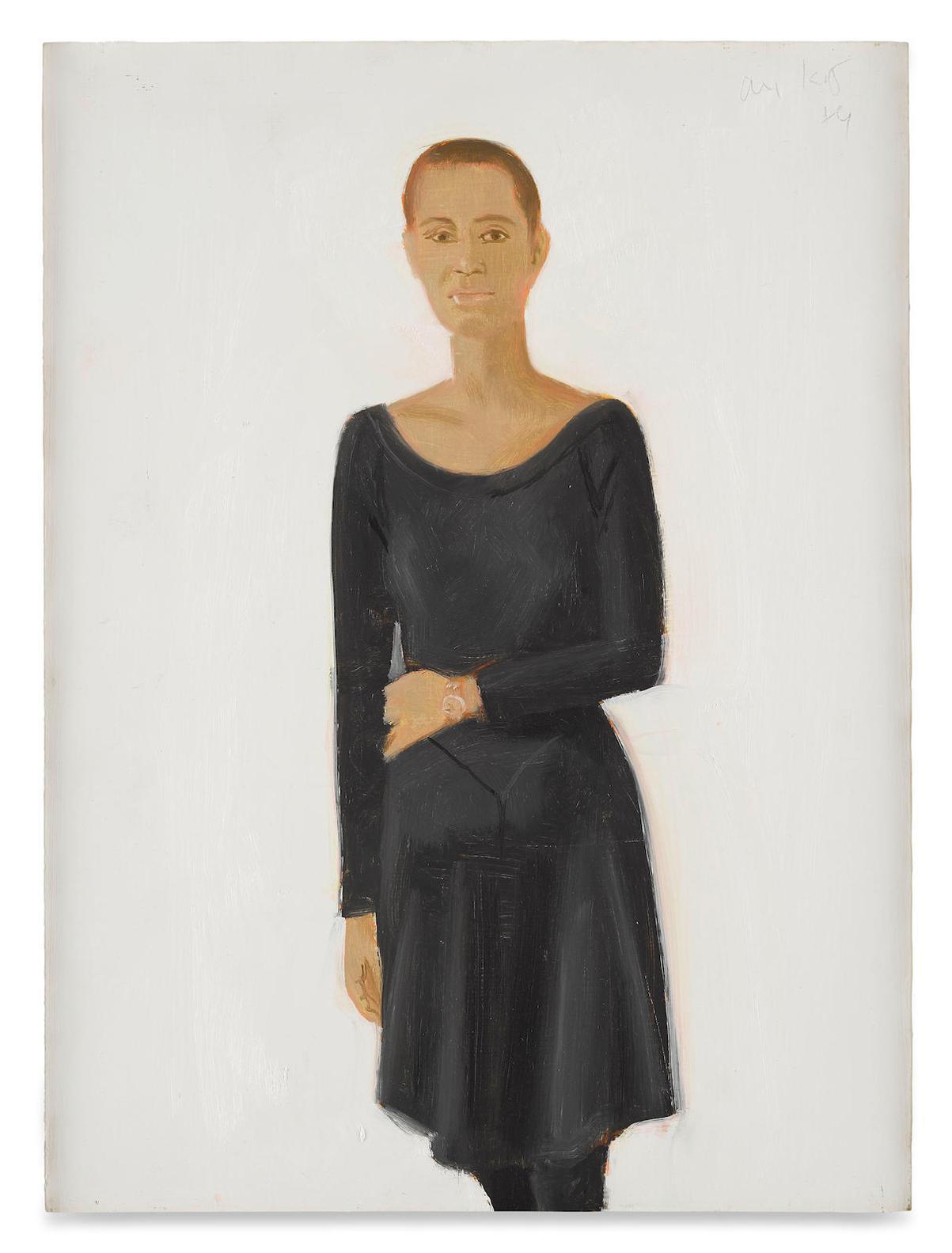 Alex Katz-Lysa, Study For The Black Dress-1989