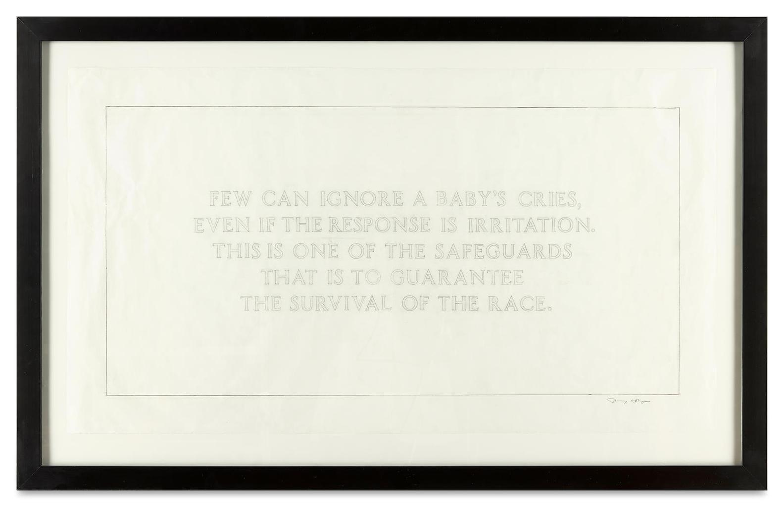 Jenny Holzer-Living: Few Can Ignore A Babys Cries...-2004