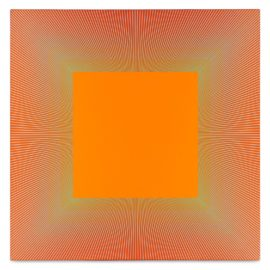 Richard Anuszkiewicz-Rainbow Squared Orange-1981