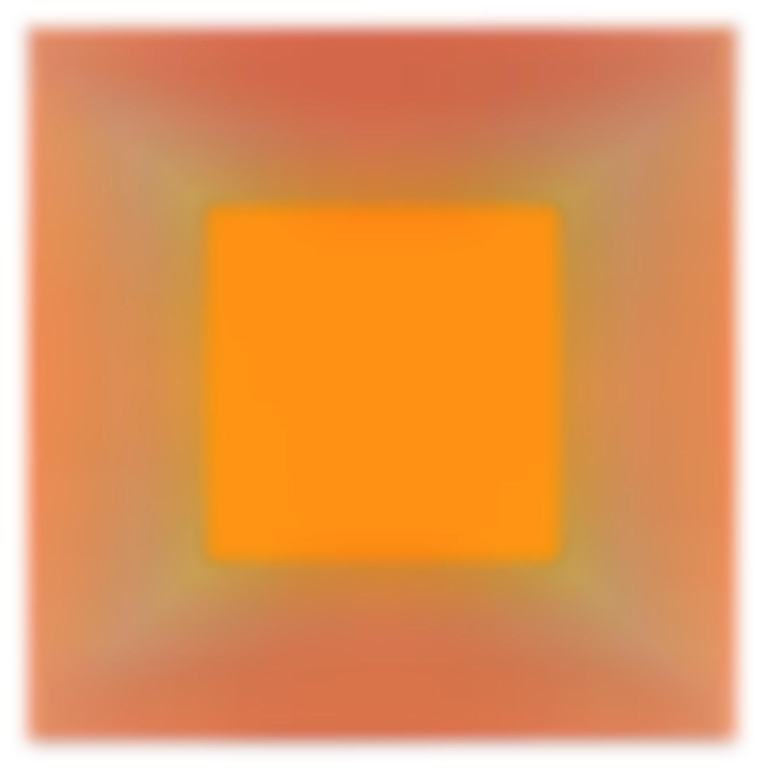 Richard Anuszkiewicz-Rainbow Squared Orange-1981