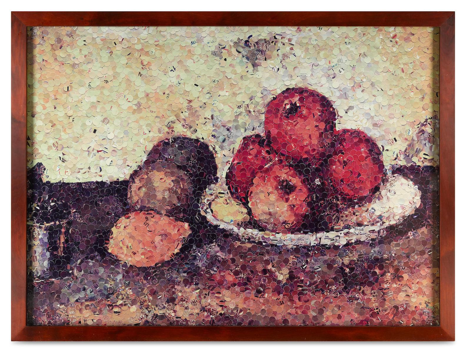 Vik Muniz-Still Life With Apples After Cezanne (From Pictures Of Magazines Series), 2004-2004