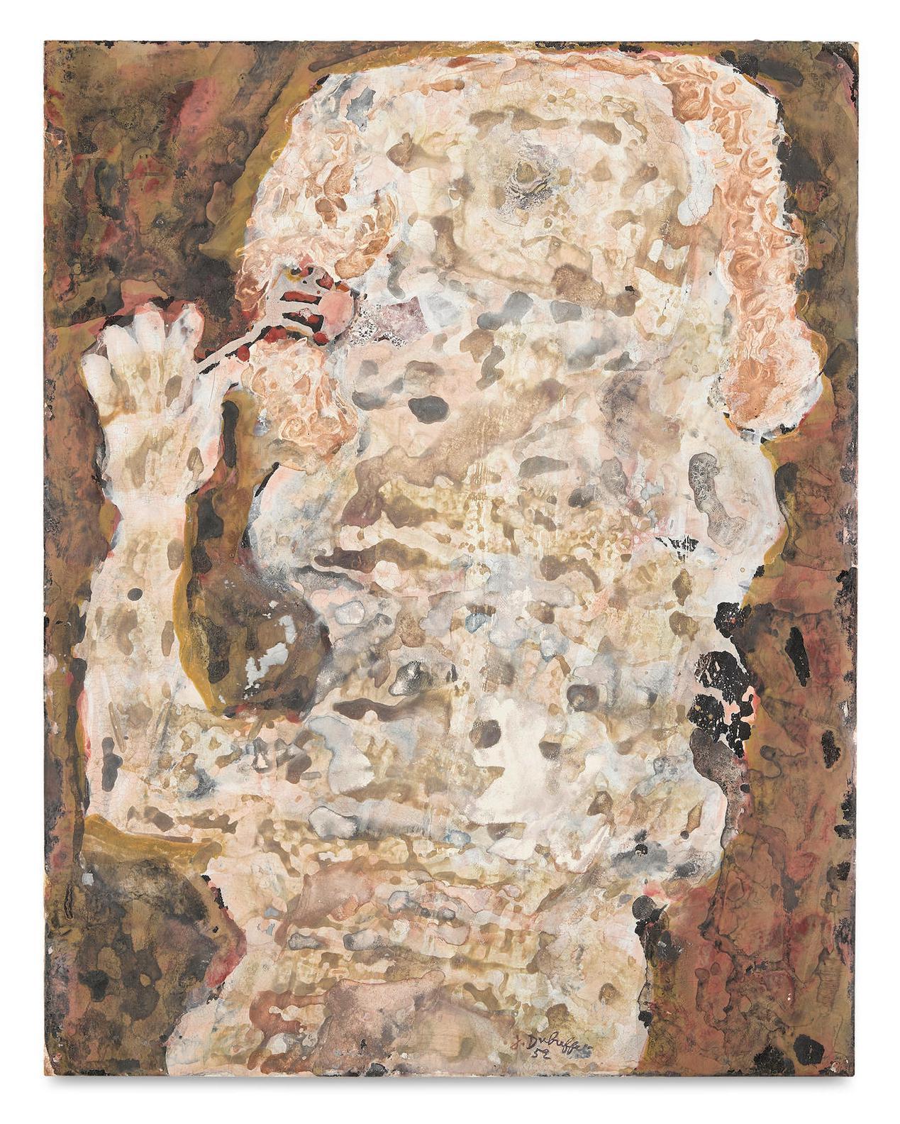 Jean Dubuffet-Mangeur A La Fourchette-1952