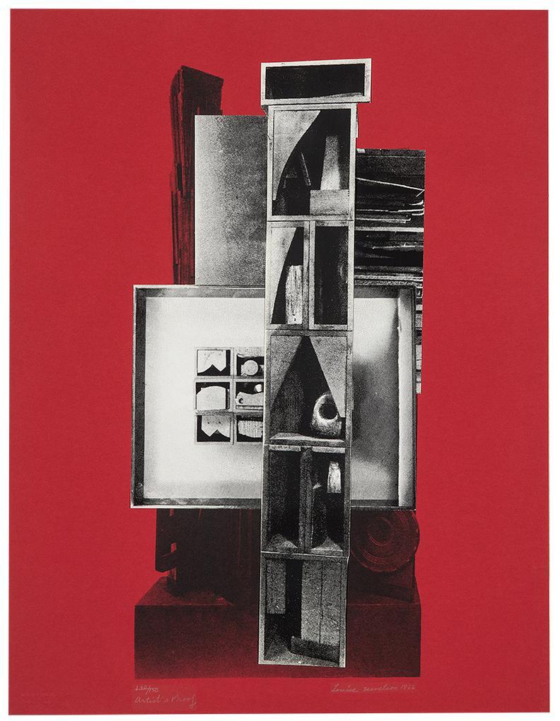 Louise Nevelson-Facade Portfolio-1966