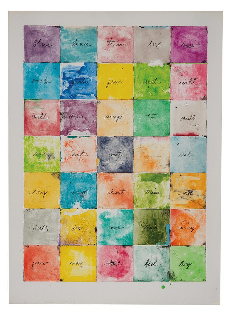 Jim Dine-Wall Chart I-1974