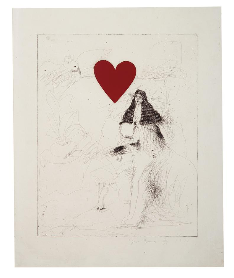 Jim Dine-A Girl And Her Dog I-1970
