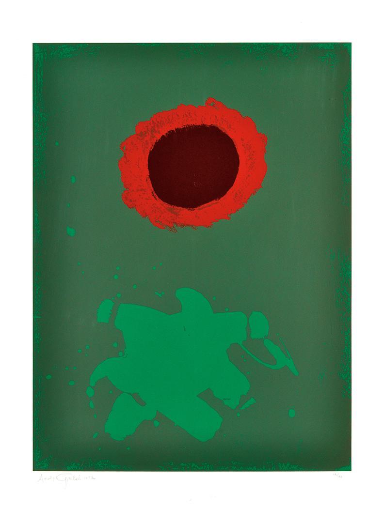 Adolph Gottlieb-Chrome Green-1972