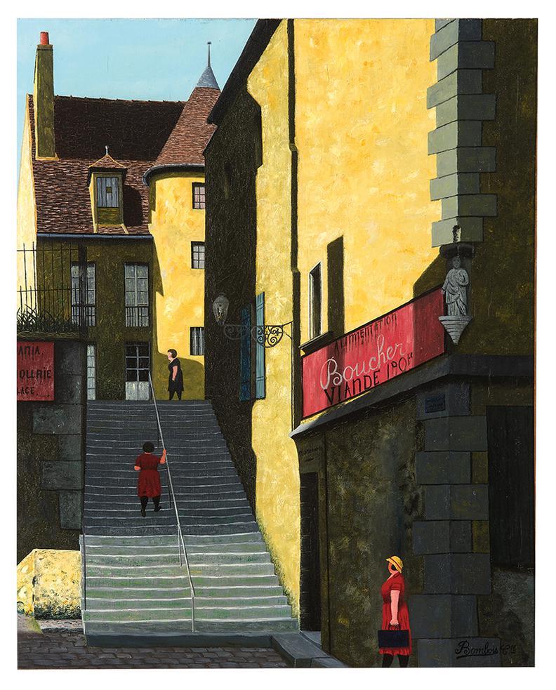 Camille Bombois-Lescalier Et La Boucherie-1928