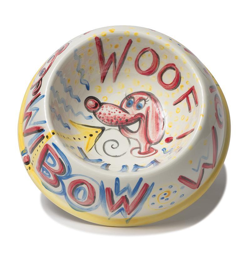 Kenny Scharf-Untitled (Woof! Yum! Bow Wow!)-2010