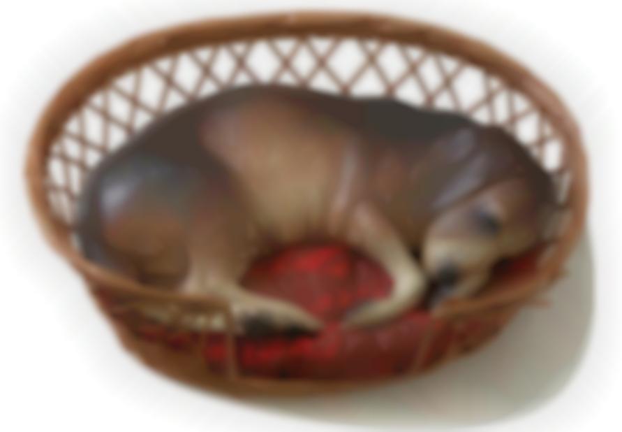 Duane Hanson-Beagle In A Basket-1990