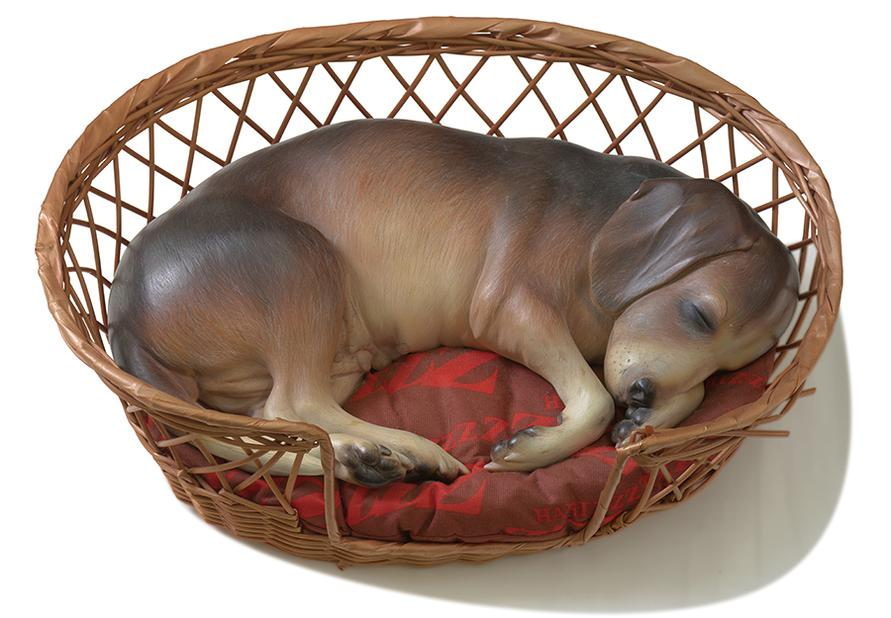 Duane Hanson-Beagle In A Basket-1990