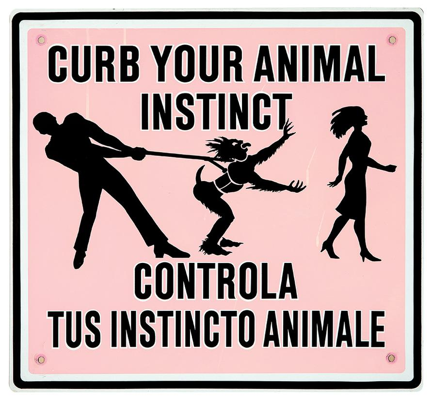 Ilona Granet - Curb Your Animal Instinct (From Emily Post Street Signs Series)-1986
