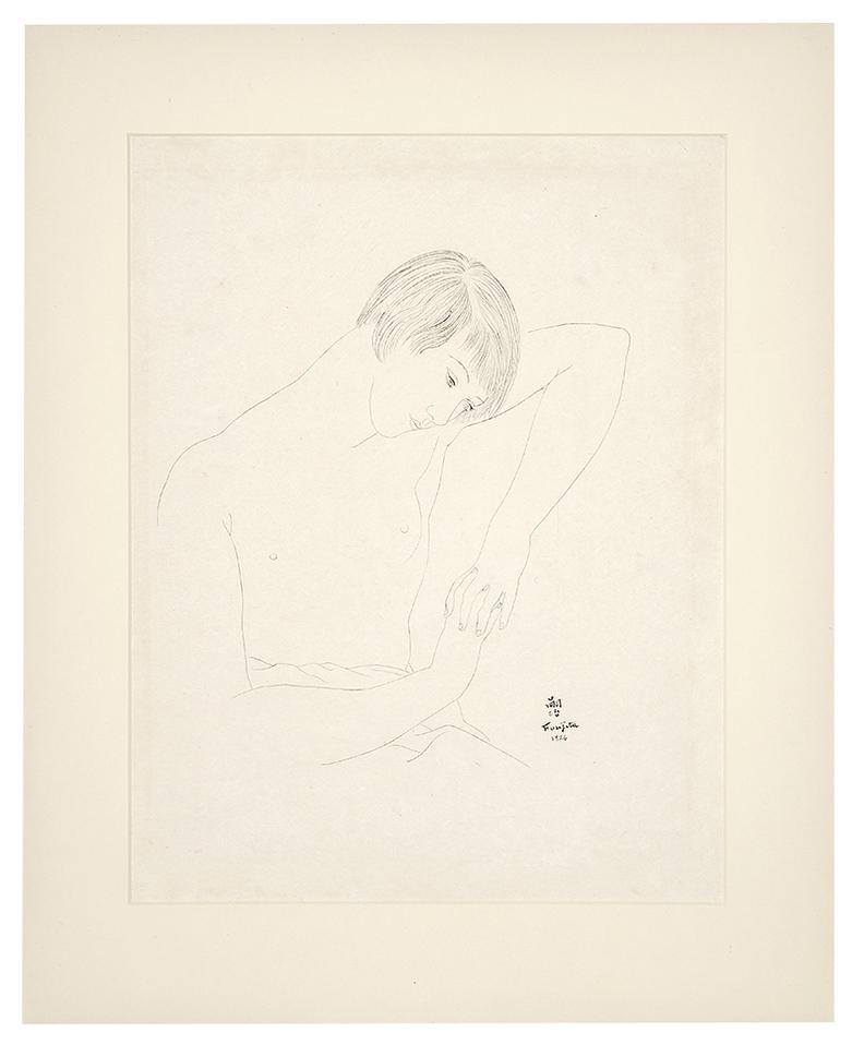 Tsuguharu Foujita-Femme Accoundee-1926