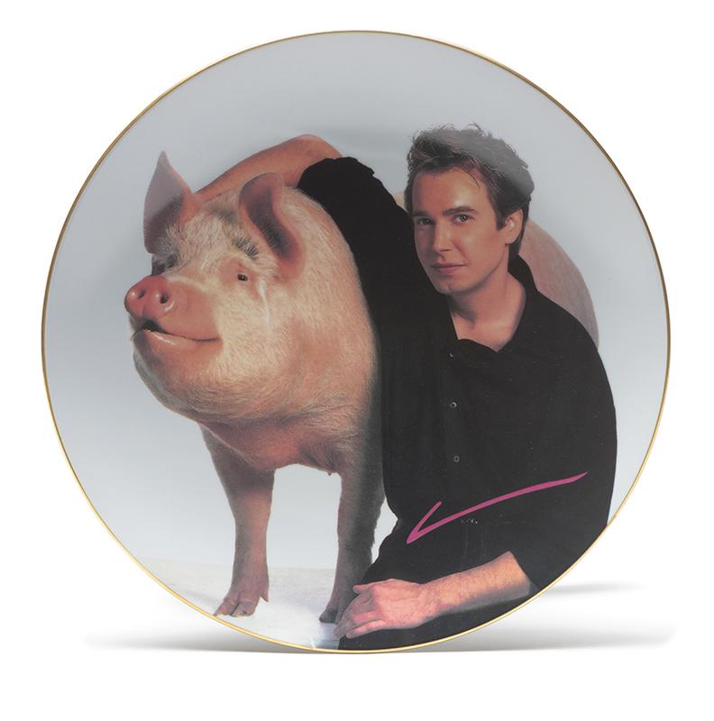 Jeff Koons-Signature Plate (For Parkett 19)-1989