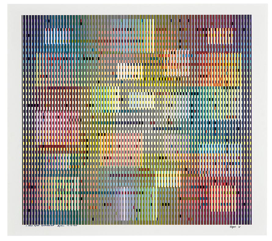 Yaacov Agam-Untitled (Composition)-1975