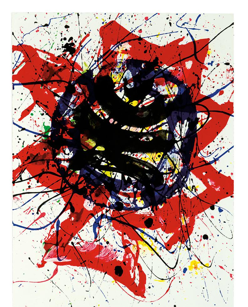 Sam Francis-A Red Star-1987