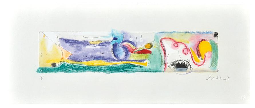 Helen Frankenthaler-A Page From A Book: I-III (3)-1997