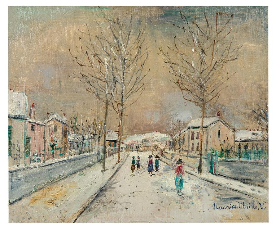 Maurice Utrillo-Rue De Village Sous La Neige A Sannois-1916