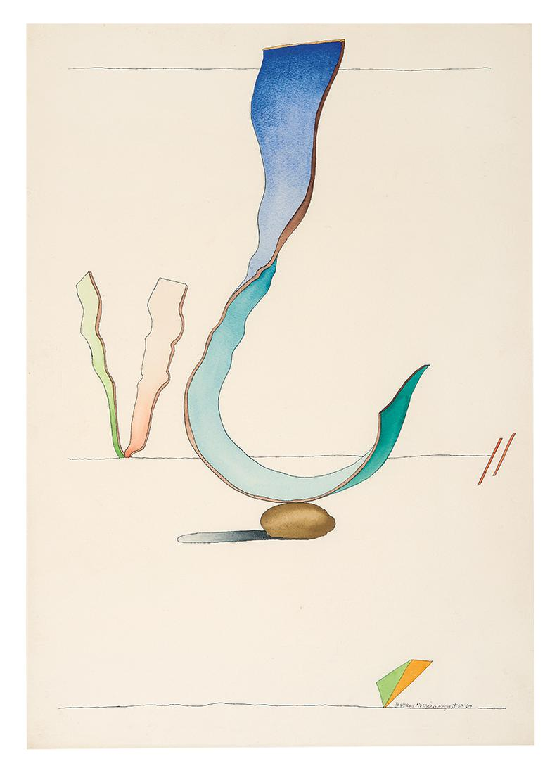 Barbara Nessim - Untitled (From Curved Landscape) (2)-1969