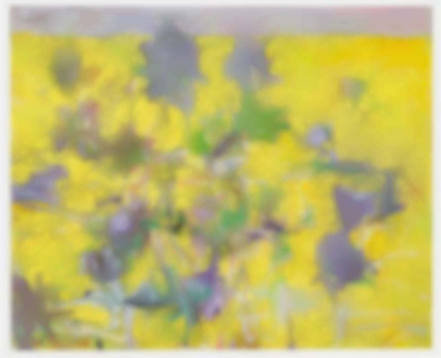 Wolf Kahn-Foliage In A Lemon-Yellow Surround-2004