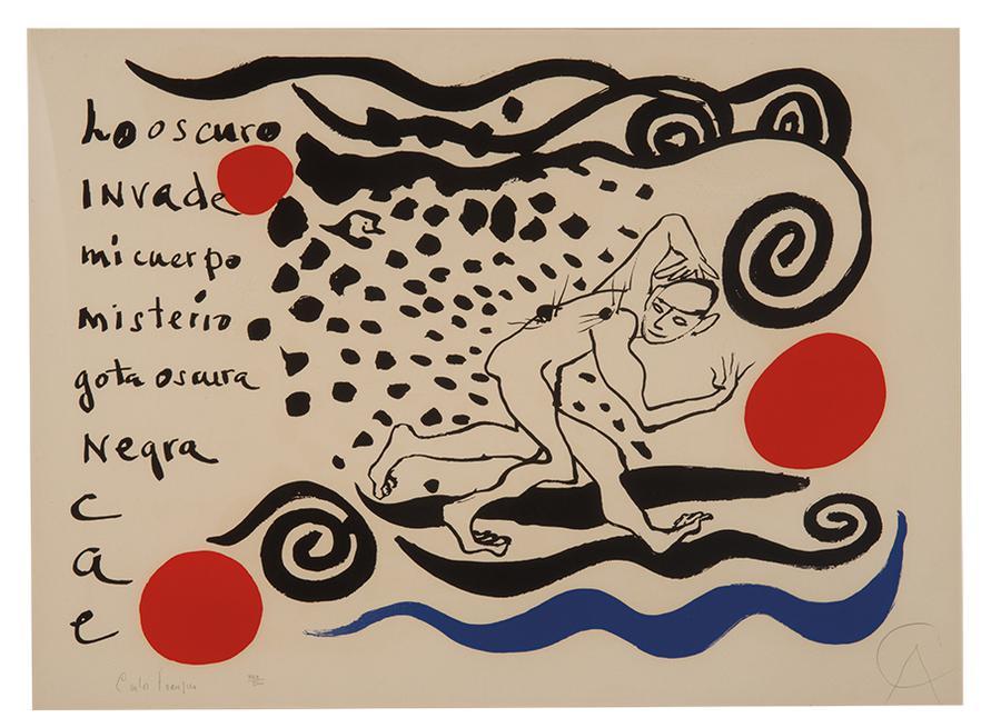 Alexander Calder-Lo Oscuro Invade-1970