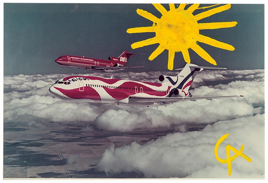 Alexander Calder-Untitled (Sun Over Braniff Plane)-1975