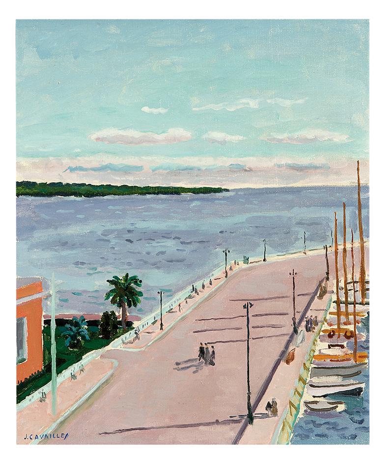 Jean Jules Louis Cavailles-La Baie De Saint Tropez-