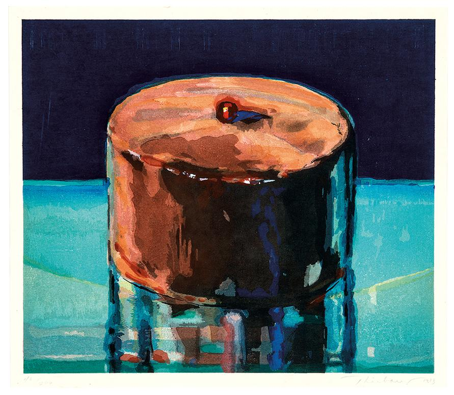 Wayne Thiebaud-Dark Cake-1983