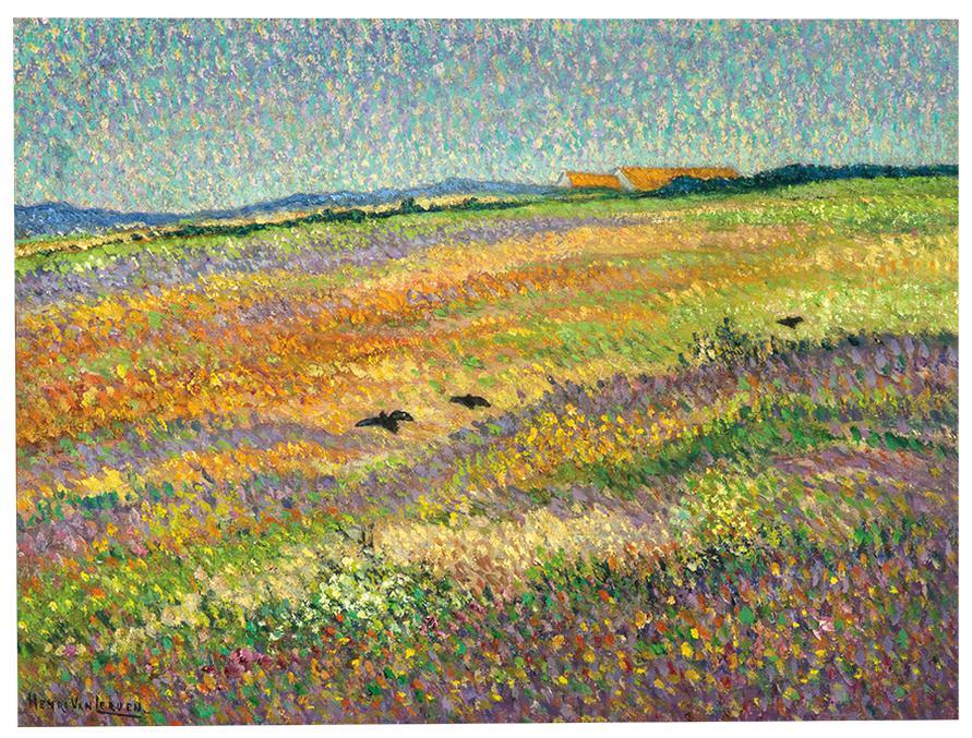Henri Van Lerven - Heath Landscape With Crows-