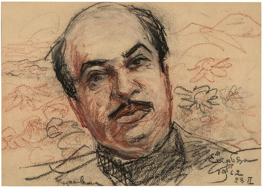 Martiros Sarian - Portrait Of Boris Parsadanian-1962