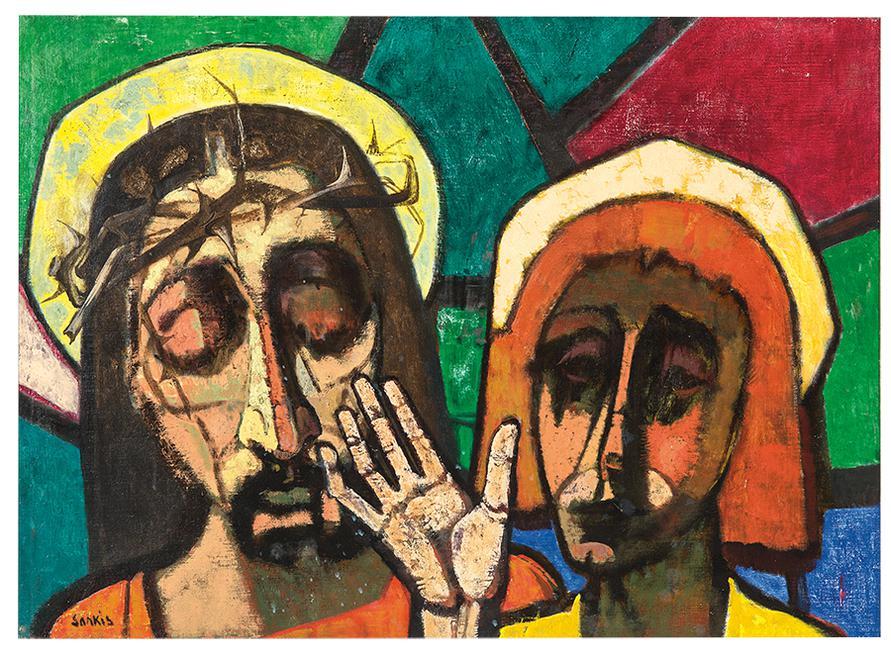Sarkis Sarkisian - Untitled (Two Heads)-