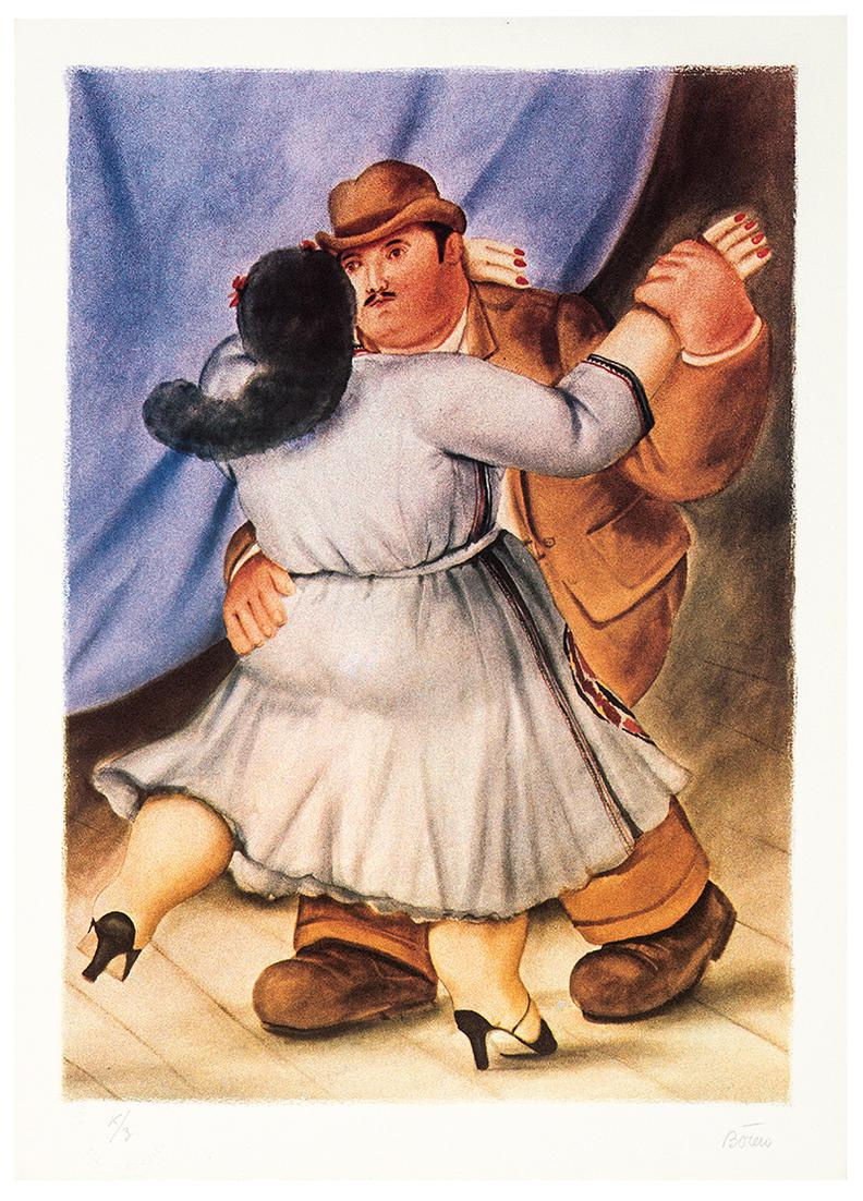 Fernando Botero-After Fernando Botero - Les Danseurs-1985