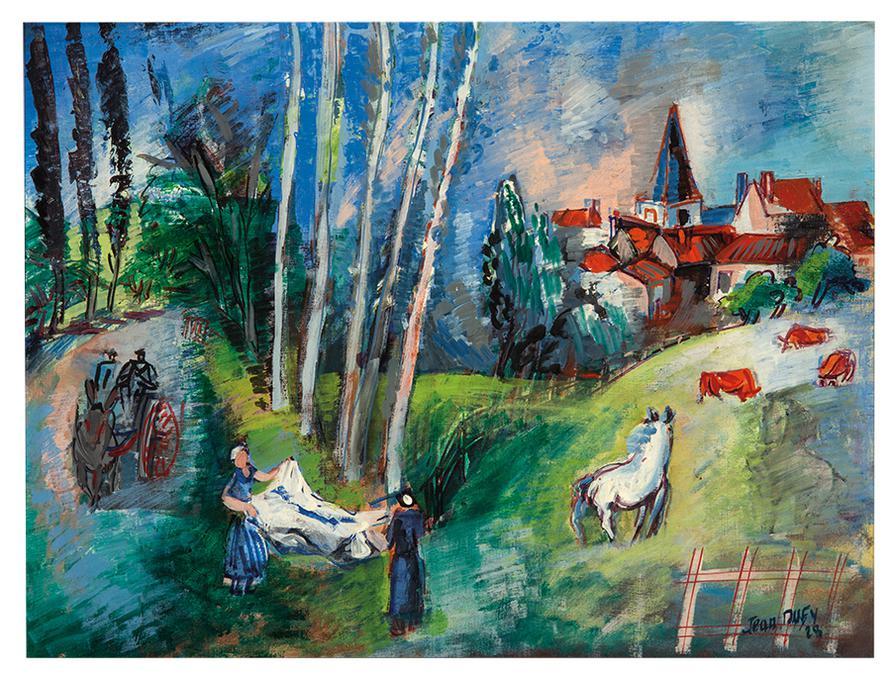 Jean Dufy-Village Du Limousin-1928