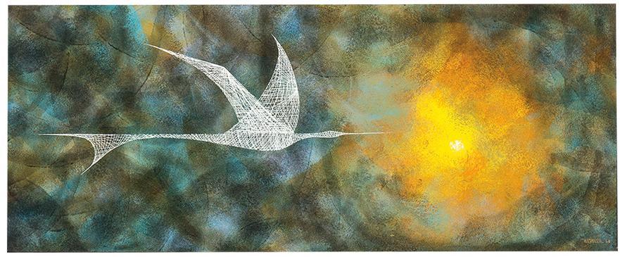 Leonardo Nierman-Bird In Flight-1960