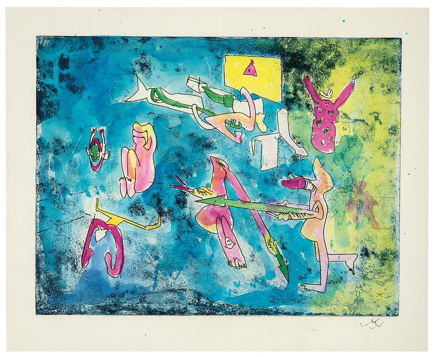 Roberto Sebastian Matta - Untitled-1970