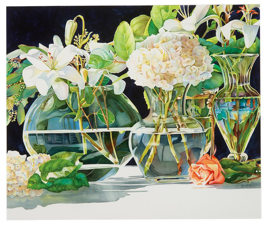 June Young - Four Glass Vases-