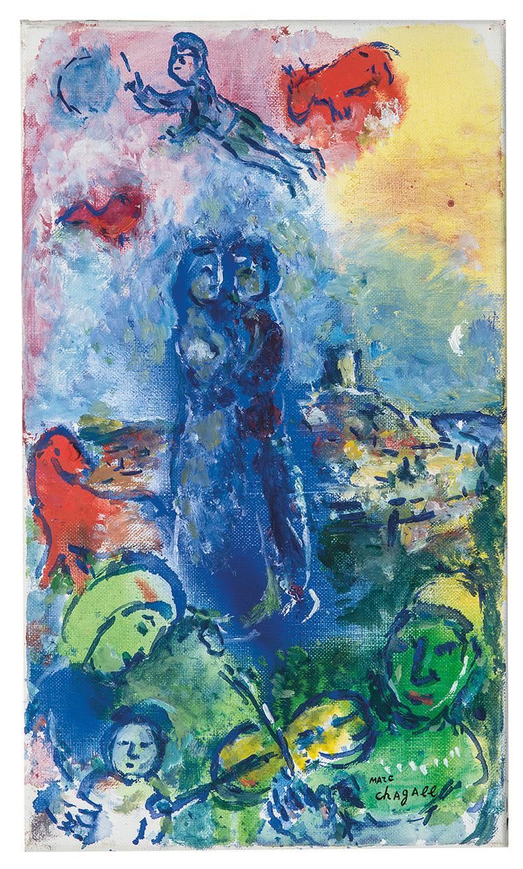 Marc Chagall-La Fete A Saint-Paul-1982