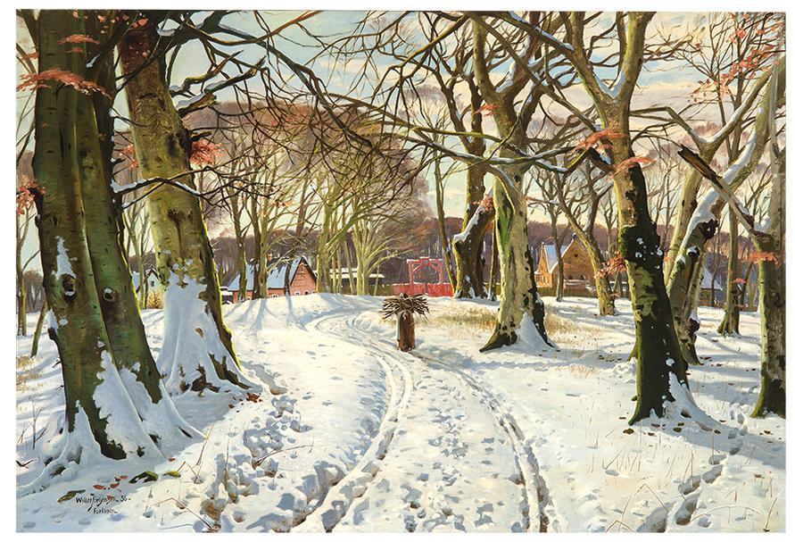 Willer Jorgensen - Winter Day In Fortunen-1936