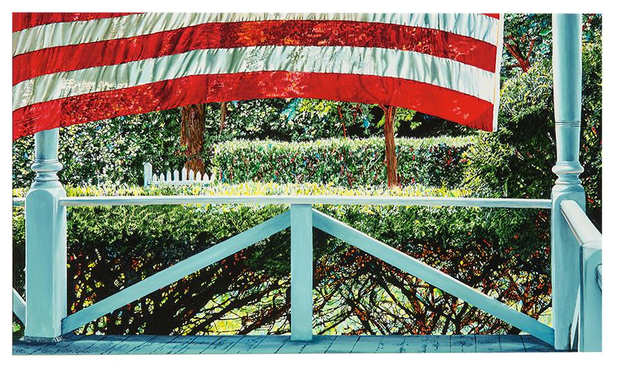 Alice Dalton Brown - Lifting Flag-1985