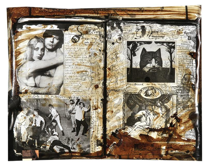 Peter Beard-Two Diary Pages, April 7Th And 8Th, 1970 (From Pettiness And Futility)-1970