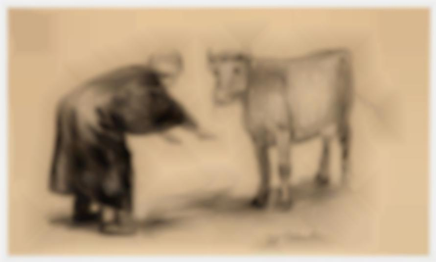 William James Glackens - Sacred Cow, Indiana-1912