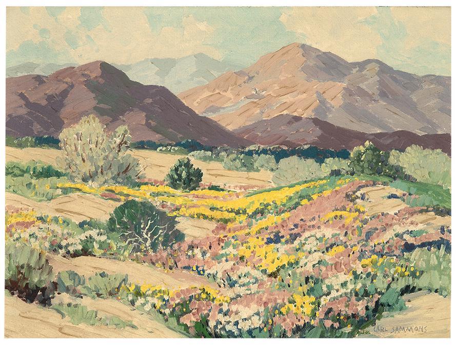 Carl Sammons - Desert At Palm Springs, Wild Flowers-