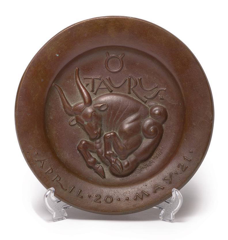 Paul Howard Manship - Taurus; Libra (From The Zodiac Series) (2)-1946