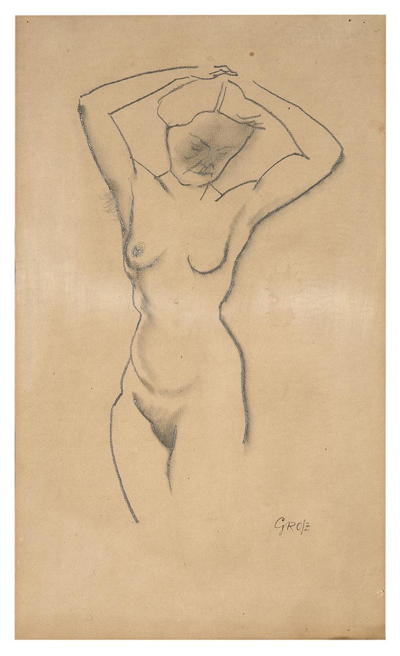 George Grosz-Untitled (Nude Woman)-